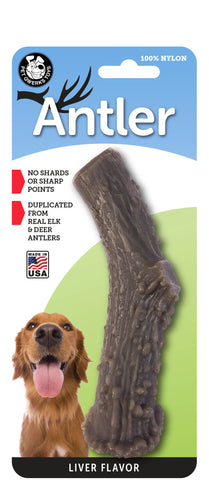 Nylon Antler Dog Chew Toy - LIVER Flavor Infused
