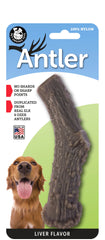 Nylon Antler Dog Chew Toy - LIVER Flavor Infused (LARGE) - a dogs toy