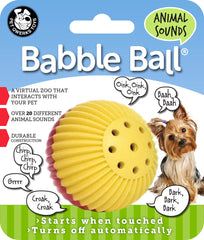 Animal Sounds Babble Balls® Dog Toy - Pet Qwerks | Interactive Dog Toys