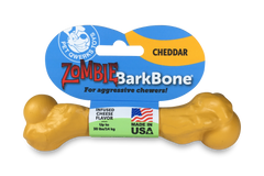 Pet Qwerks Zombie BarkBone Cheddar Cheese Flavor Infused Dog Chew Toy, Made in USA - Pet Qwerks | Interactive Pet Toys