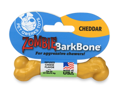 Pet Qwerks Zombie BarkBone Cheddar Cheese Flavor Infused Dog Chew Toy, Made in USA - Pet Qwerks | Interactive Dog Toys