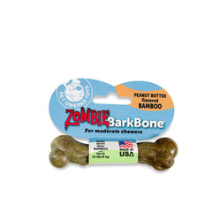 Pet Qwerks Zombie BAMBOO BarkBone with Peanut Butter Flavor Infused Dog Chew Toy, Made in USA - Pet Qwerks | Interactive Dog Toys