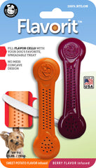 Flavorit™ Nylon Bone Dog Chew Toys 2-PK Berry & Sweet Potato, Made in USA - Pet Qwerks | Interactive Dog Toys