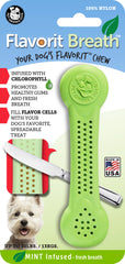 Flavorit™ Breath Nylon Bone Mint Infused - Pet Qwerks | Interactive Dog Toys