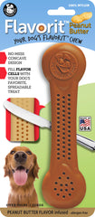 Flavorit™ Nylon Bone Peanut Butter Flavor Infused - Pet Qwerks | Interactive Dog Toys