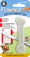 Flavorit™ Nylon Bone Chicken Flavor Infused - Pet Qwerks | Interactive Dog Toys
