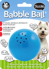 Talking Babble Balls® Dog Toy - Pet Qwerks | Interactive Dog Toys