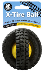 Animal Sounds X-Tire Ball Interactive Dog Toy - Pet Qwerks | Interactive Dog Toys