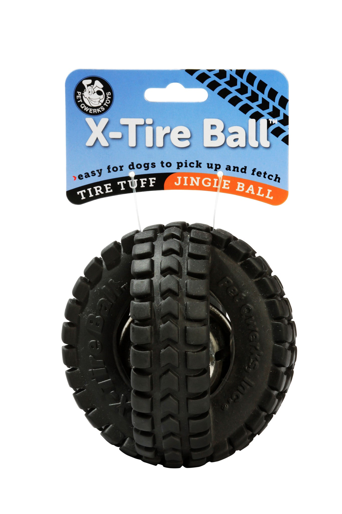 Jingle X-Tire Ball - Pet Qwerks | Interactive Pet Toys
