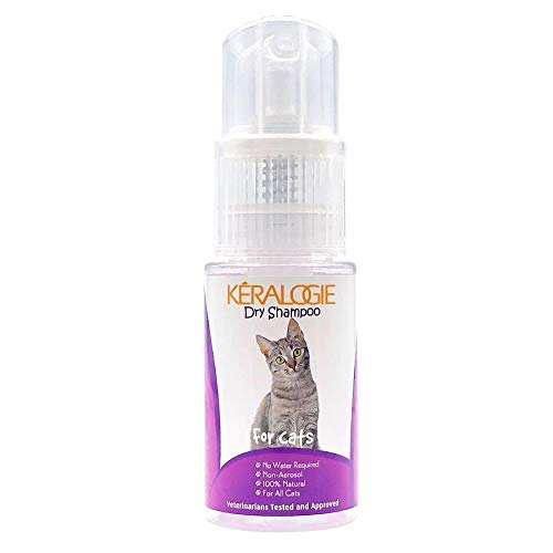 Keralogie Dry Shampoo for Cats, All Natural, No Water Required - (2.7 oz)