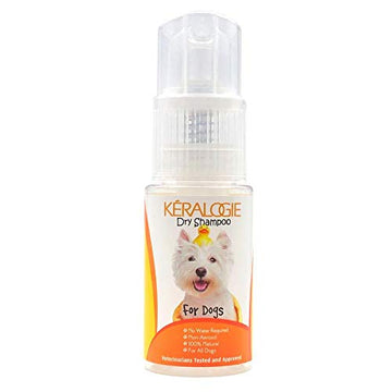 Keralogie Dry Shampoo for Dogs, All Natural, No Water Required - (2.7 oz)