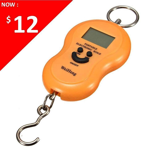 Portable LCD Electronic Handheld Hanging Hook Weighing Scale