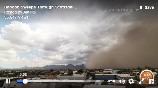 August 9th, 2016 - Scottsdale Haboob Featured on AMHQ - Weather Channel