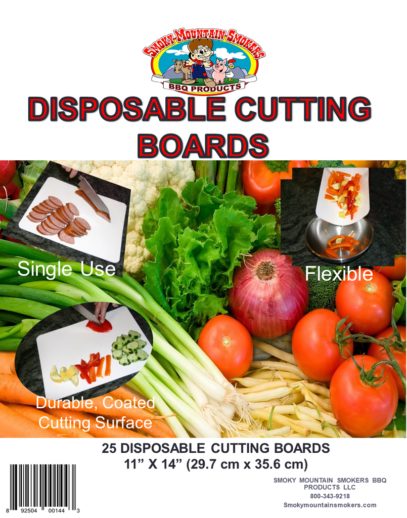 "Disposable Cutting Board - 11"" x 14"""