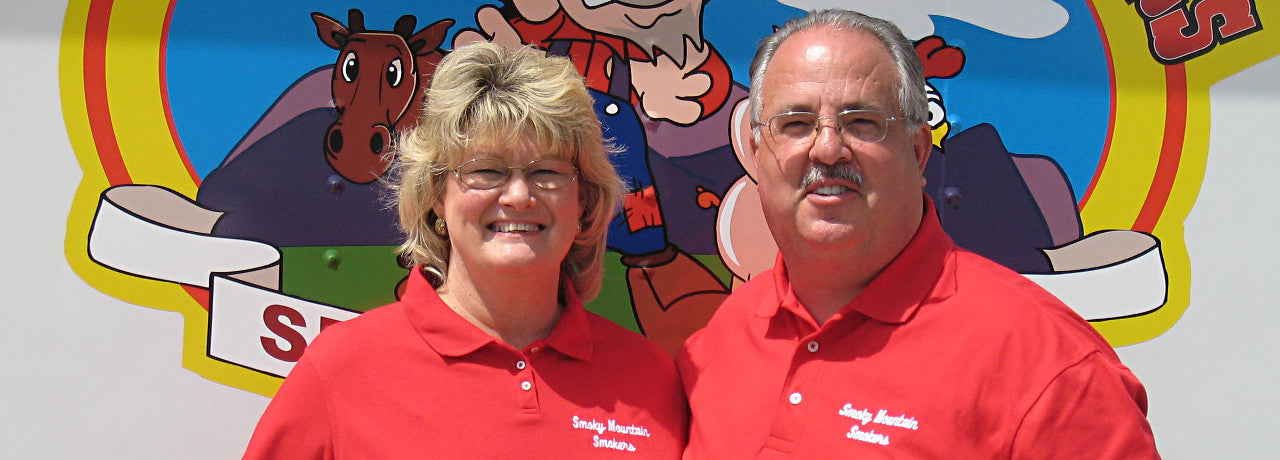 Joe and Voncile are the Smoky Mountain Smokers competition cooking team.