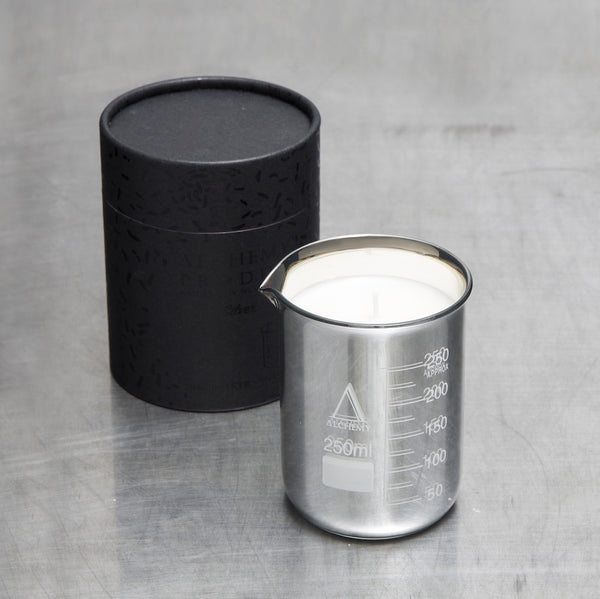 Alchemy Small Silver Beaker Candle