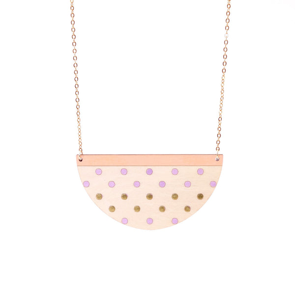 Half moon Dotty Necklace