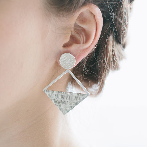 Eliptical Rhombus Earrings