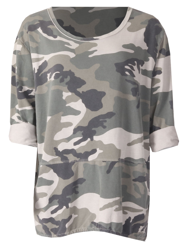 Camo Sweat Top - Green Camo