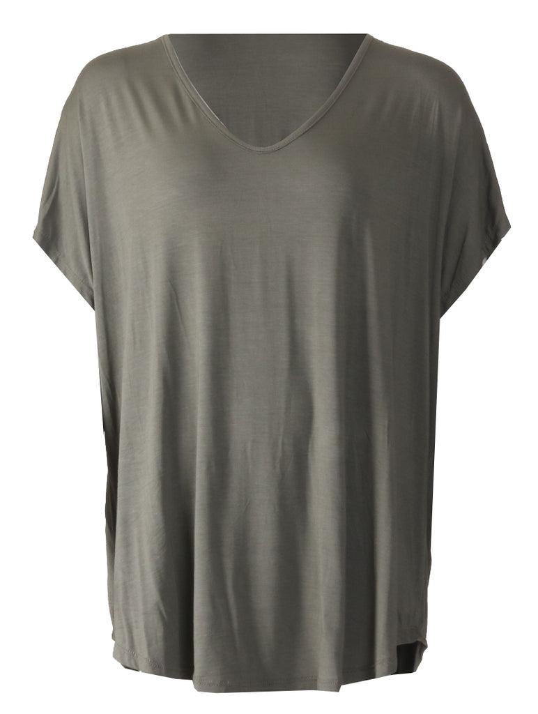 V Neck T-shirt - Khaki