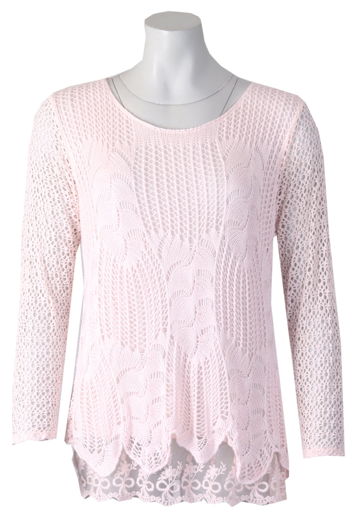 Long Sleeve Billy Top - Pink