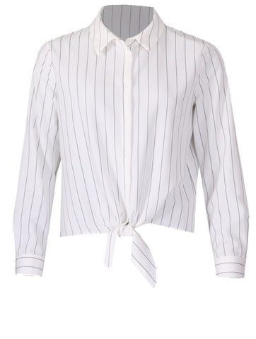 Pinstripe Shirt - Black/Cream