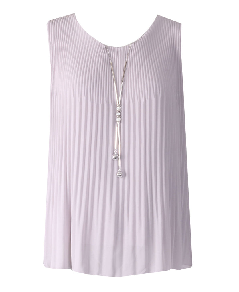 Sleeveless Ribbed Top - Grey