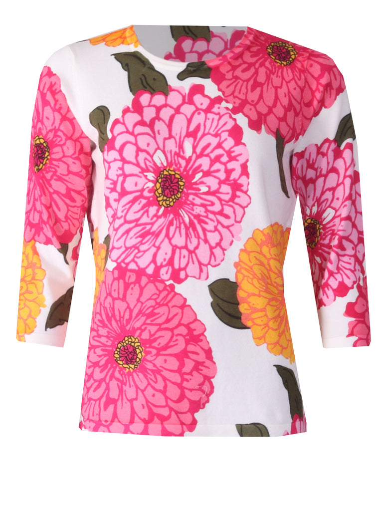 Flower Knitwear - Pink Multi