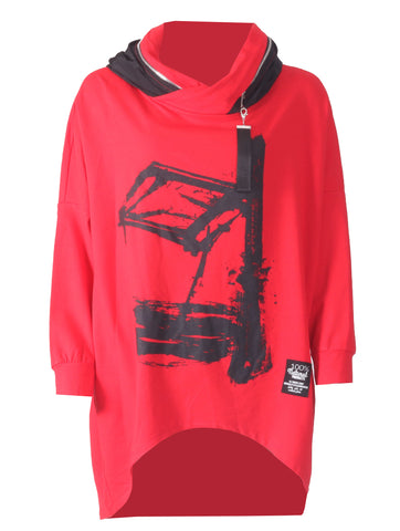 Zip Hoody - Red