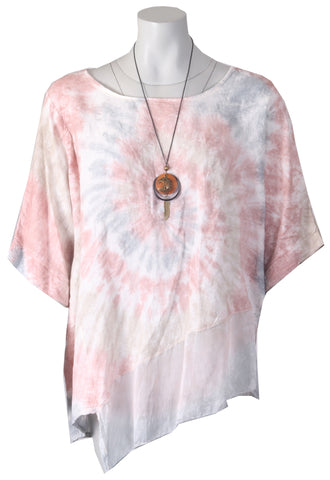 Tie Dye Necklace Top - Pink