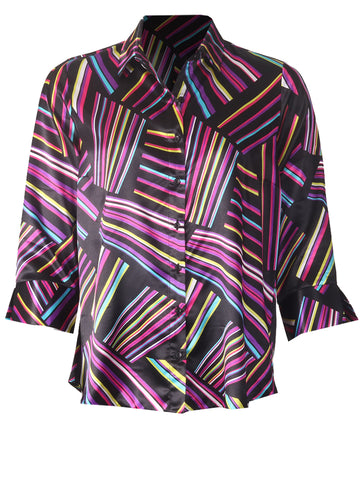 Multi Satin Shirt - Pink Multi