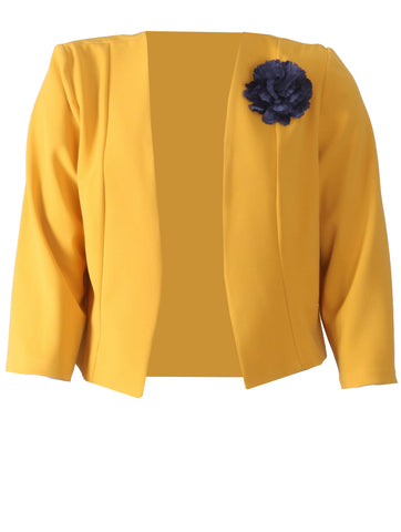 Jacket with Flower - Mustard