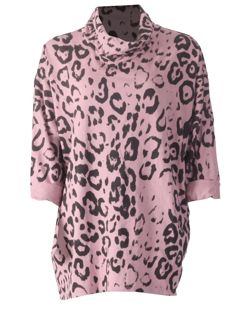 Leopard Tunic - Pink