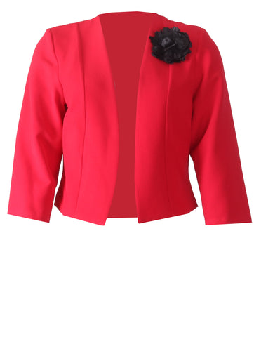 Jacket with Flower - Red