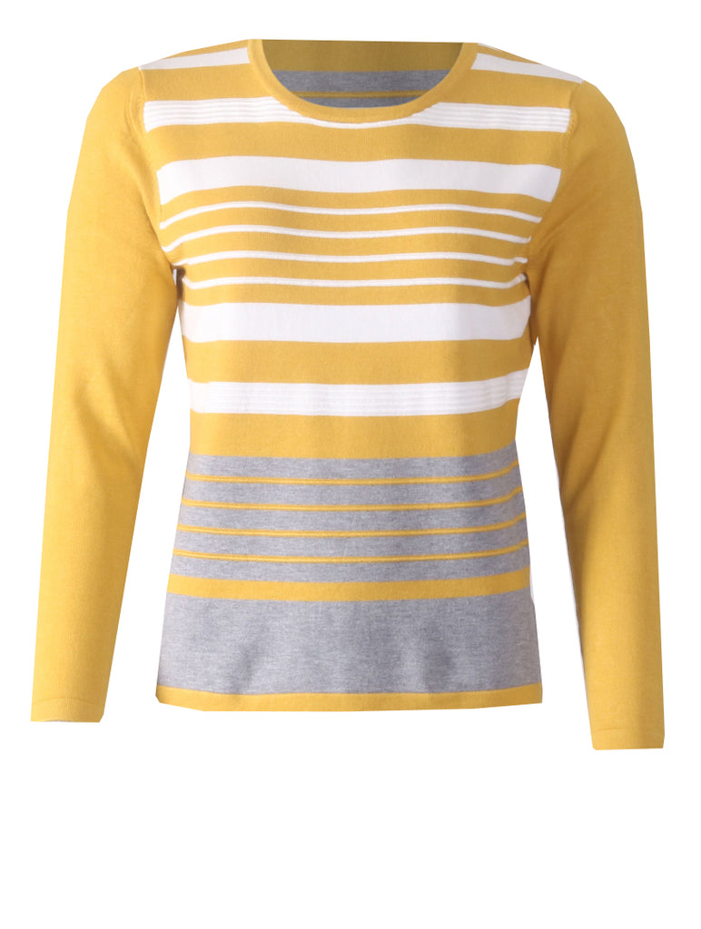 Knitwear - Gold/White/Grey