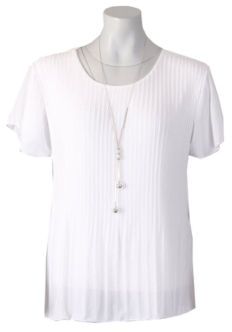 1/2 Sleeve Blouse - White