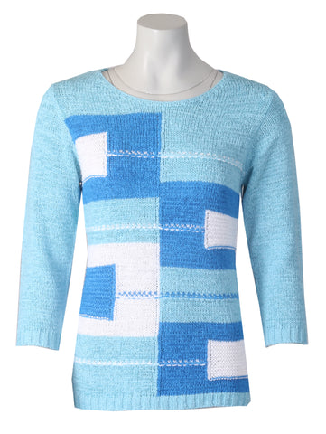3/4 Sleeve Jumper - Blue
