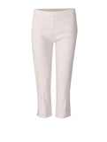 Crop Linen Mix Trousers - Beige