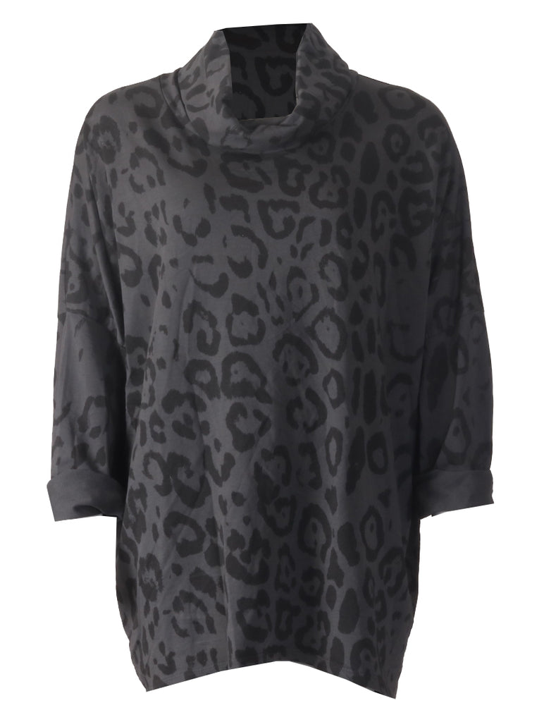 Leopard Tunic - Grey