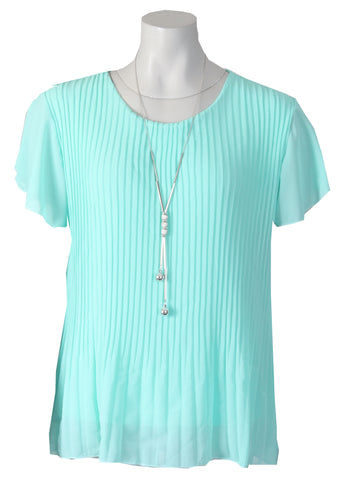 1/2 Sleeve Blouse - Light Jade