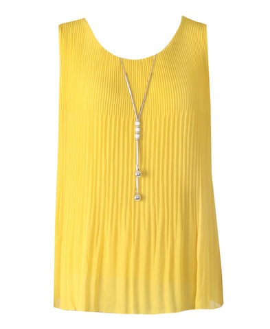 Sleeveless Ribbed Top - Mustard