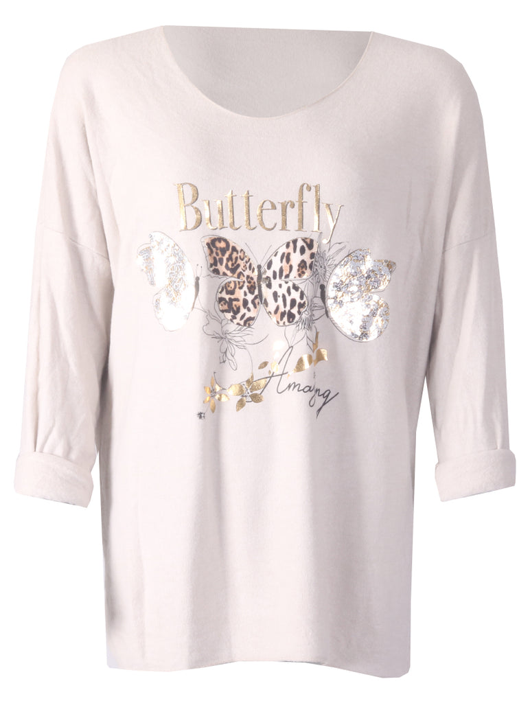 Butterfly Top - Stone