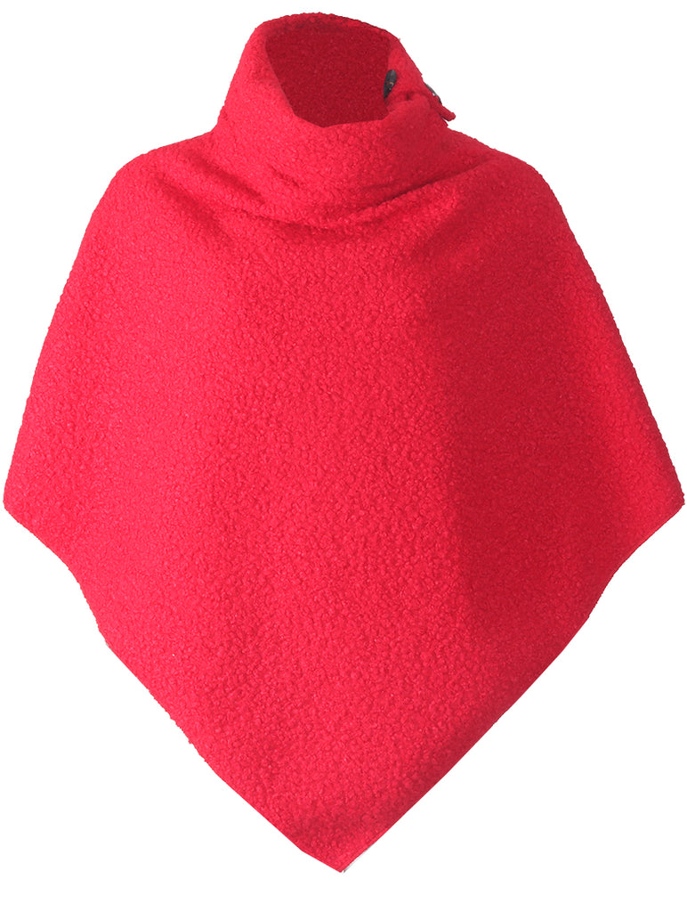 Luxury Poncho - Red