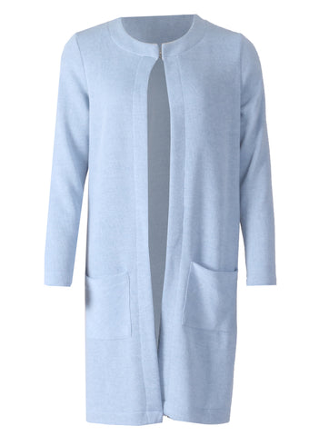 Round Neck Jacket - Blue