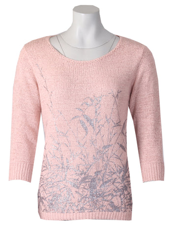 3/4 Sleeve Stem Jumper - Dusty Pink
