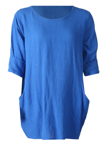1/2 Sleeve Top - Blue