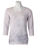 3/4 Sleeve Stem Jumper - Silver