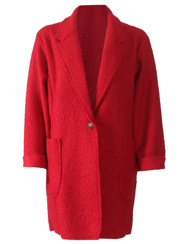 Boucle Jacket - Red