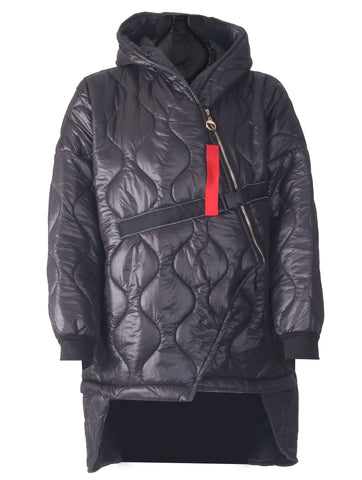 Padded Buckle Coat - Black