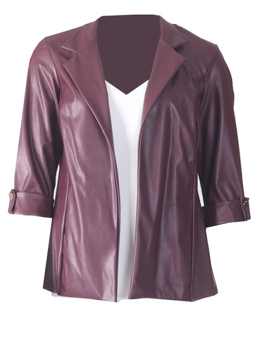 Pu Jacket - Wine
